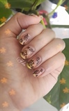 Fall leaves nailart