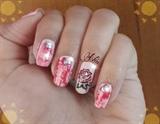Rose nailart