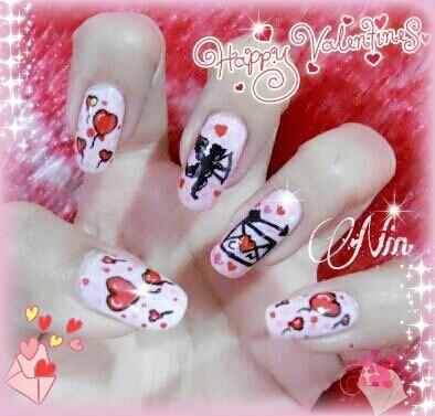 Cute Valentine's Day nailart