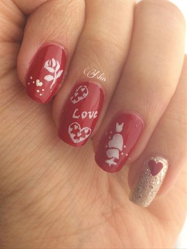 elegant valentine's day nails  nail art gallery