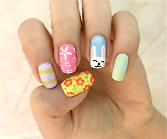 Easy Spring/Easter Nails