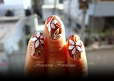 Flowers nails inspire by Danica Danica