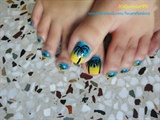 Summer Time Beach Toe Nails