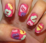 Hearts Nail Art