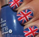 British Flag Nail Art