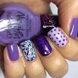 Purple And White Nail Art