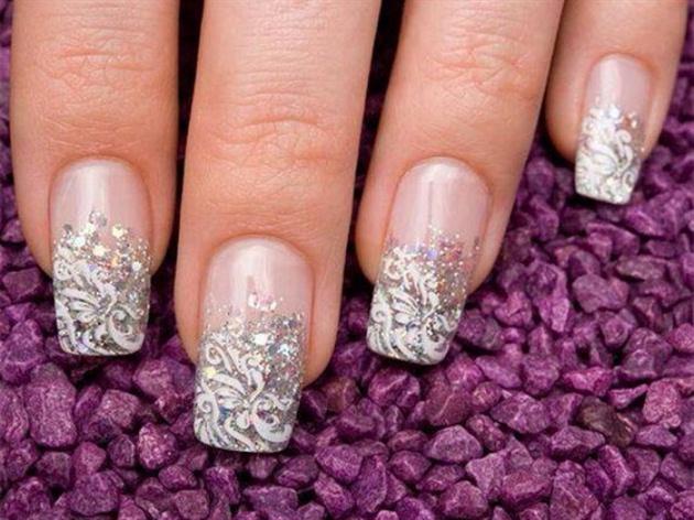 Silver Glitter Nail Art Nail Art Gallery