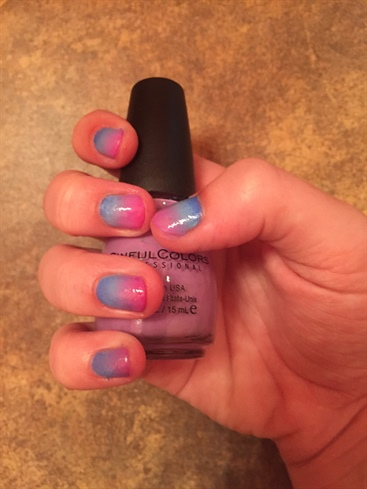 Pink Purple And Blue Gradient