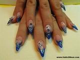 Blue stiletto nails