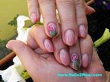 Natural looking almond shaped nails