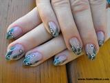 Almond shaped natural looking nails