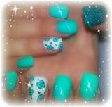 flower and glitter