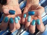 blue water marbling