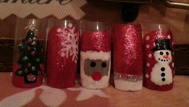 christmas nails santa