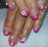 glittery girly pink