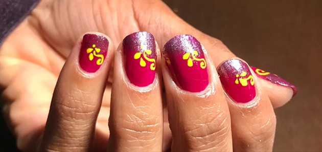 Duo Tone With Florals