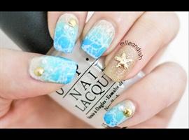 nail art: beach🌴