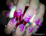 Pink-Styled Nails with Pink-Strass
