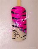Pink-Tiger Nails