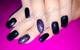 Pure-Black & Rainbow-Glitter