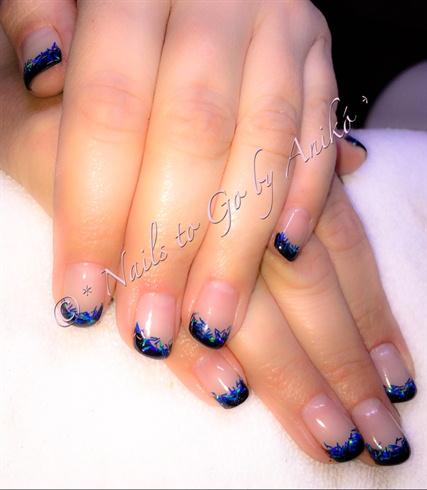 Black-French & Blue Glitter-Flitter