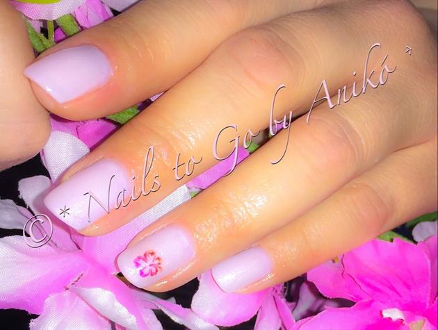 Spring Rose Glitter With Flower