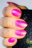 Pink Nails - Luxury Magneta Almond Style