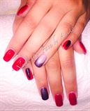 Red & Thermo Black & Silver Nails