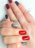 Magic Red & Black Thermo Nails