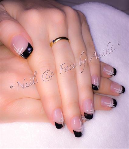 French In Black & White Stripes