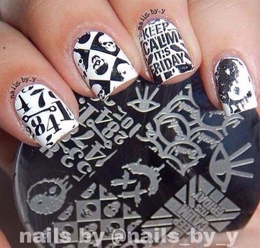 Punk Stamping Manicure