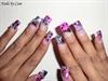 Pink and Black Rockstar Nails
