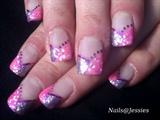 pink & purple glitter