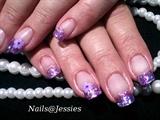 purple glitter foils