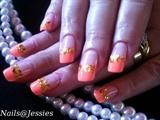 orange and gold foils