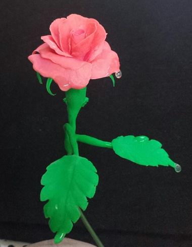 Acrylic rose