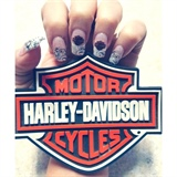 Harley Davidson Nails - Love Them!!