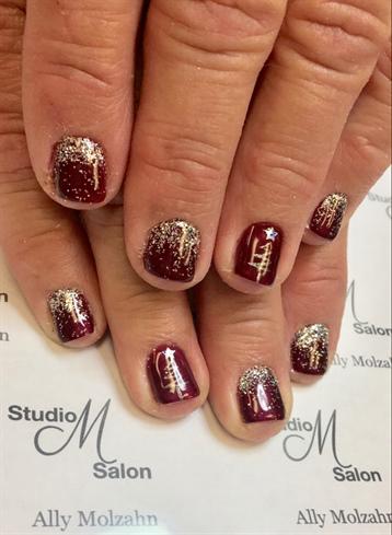 Christmas Tree Nails Nail Art Gallery