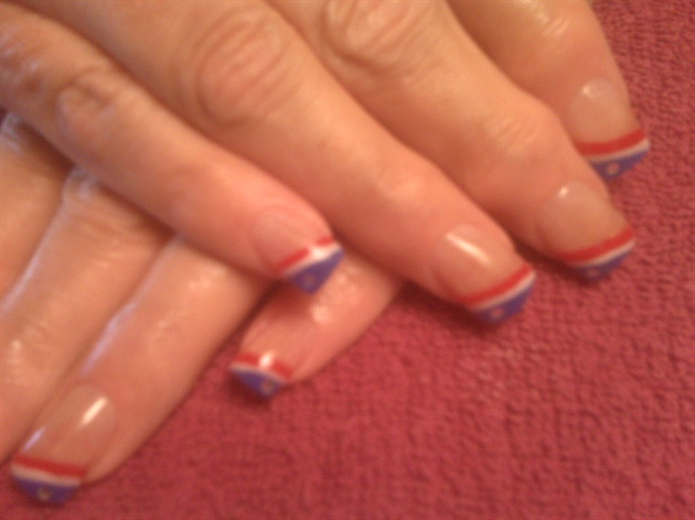Red, White & Blue - Nail Art Gallery