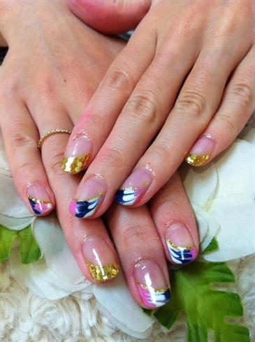 Peacock Gel nails