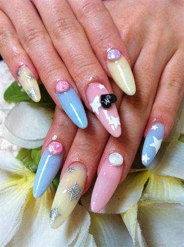 Pastel Super long acrylic Nails