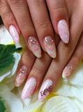 floral lace nails