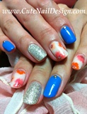 gel flower nails