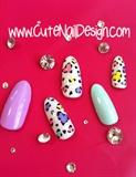 Pastel Leopard Print Nail Tips