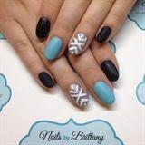 Matte blue and aquamarine, design accent