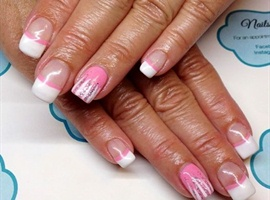 White french with bubblegum pink