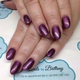 Purple almond nails