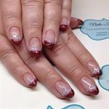 Christmas glitter almond nails