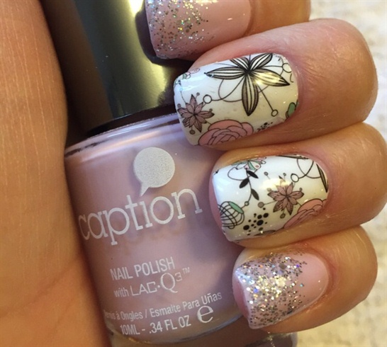 Light Pink With Flower Decals