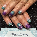 Teal and purple glitter mix